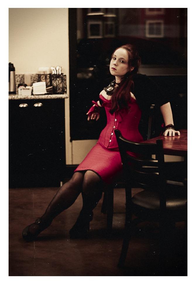 Happy Customers >> Fuschia Corset and Hobble Skirt - Darling Corsets
