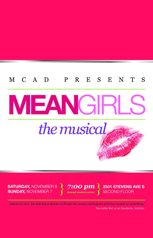 Mean Girls The Musical Jill Blaeser Design